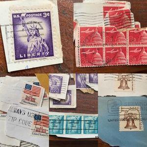 Vintage USPS Inherited Used Stamp Collection